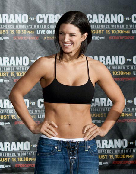 Gina Carano at Strikeforce weigh in. Photo by Michael Dunn