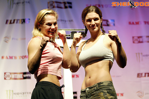 Julie Kedzie (left) and Gina Carano