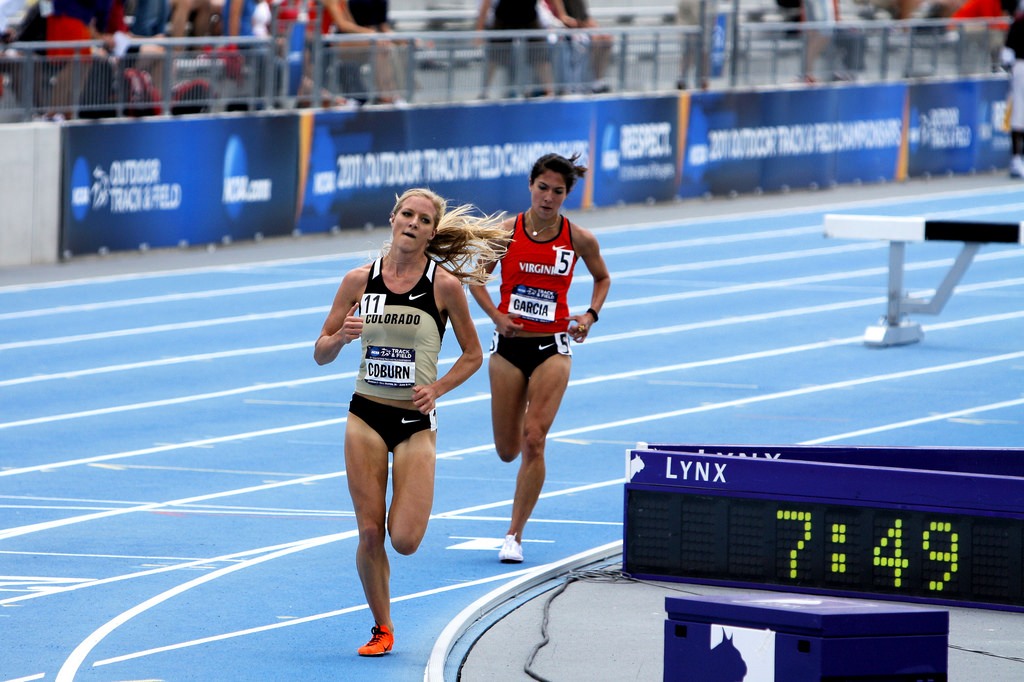 2011 NCAA Track & Field Championships Women's 3000m Steeplechase - Winner, Emma Coburn of Colorado by Phil Roeder CC2 Link: https://flic.kr/p/9SxiRp