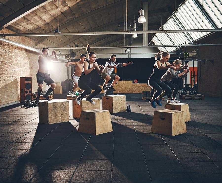 Box jumps.
