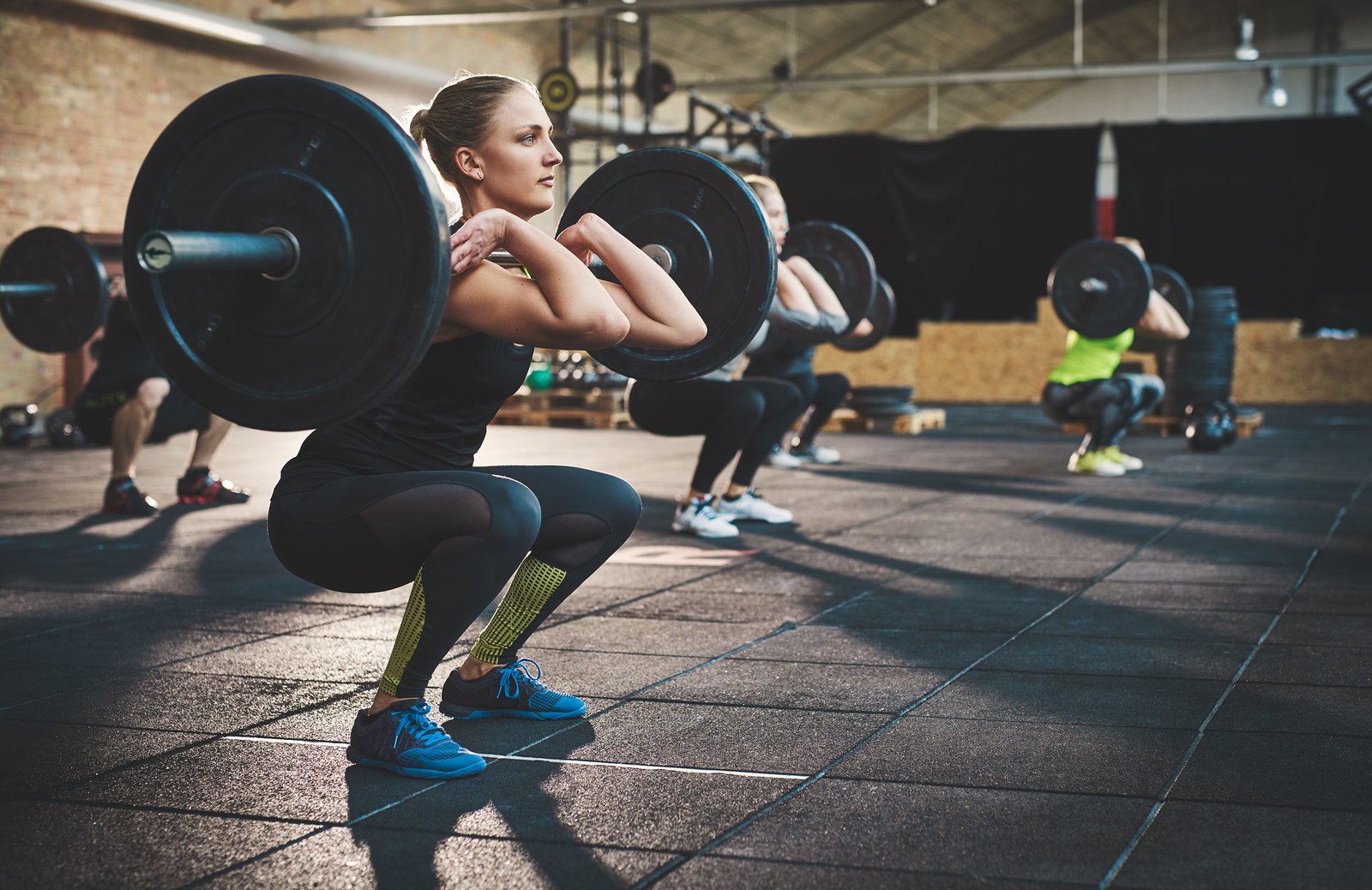 Front squats. You use a kettlebell or barbell.