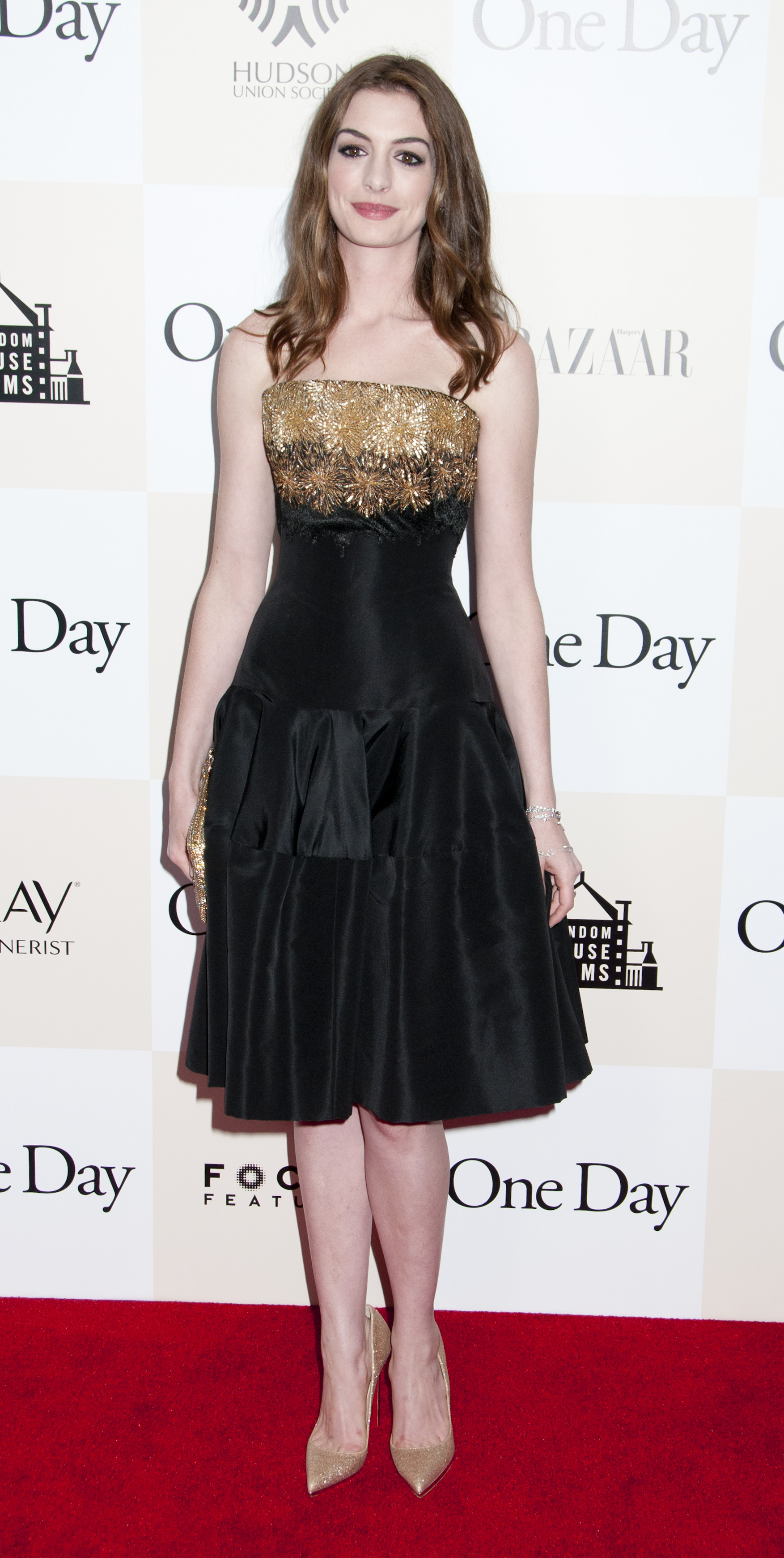 """Anne Hathaway - Premier of """"One Day"""" in 2011 (just before The Dark Knight Rises began filming) Photo Credit: Janet Mayer / PR Photos"""