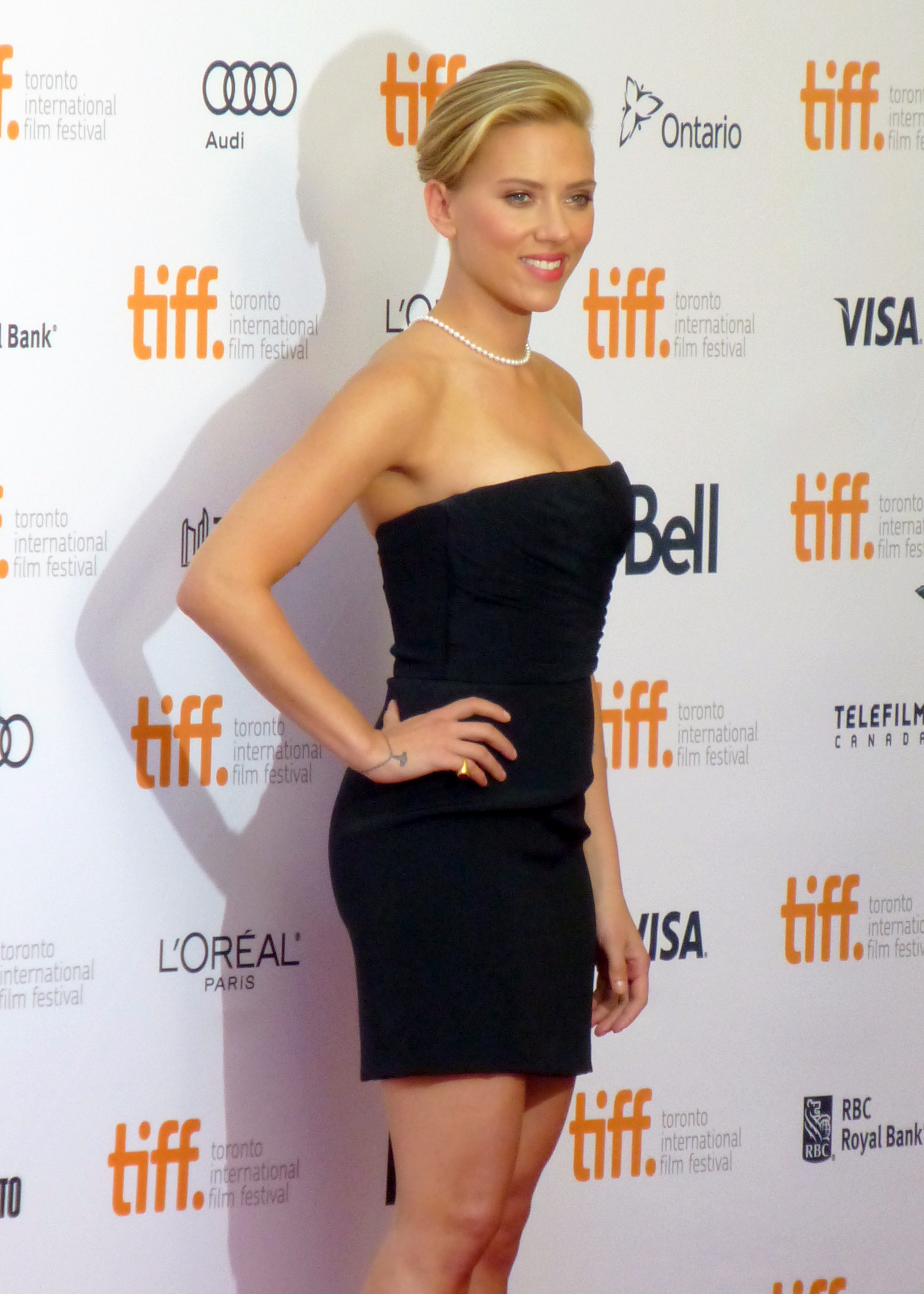 Scarlett Johansson at the Premiere of Don Jon, 2013 Toronto Film Festival by GabboT, CC 2.0 link: https://flic.kr/p/fPqU2e