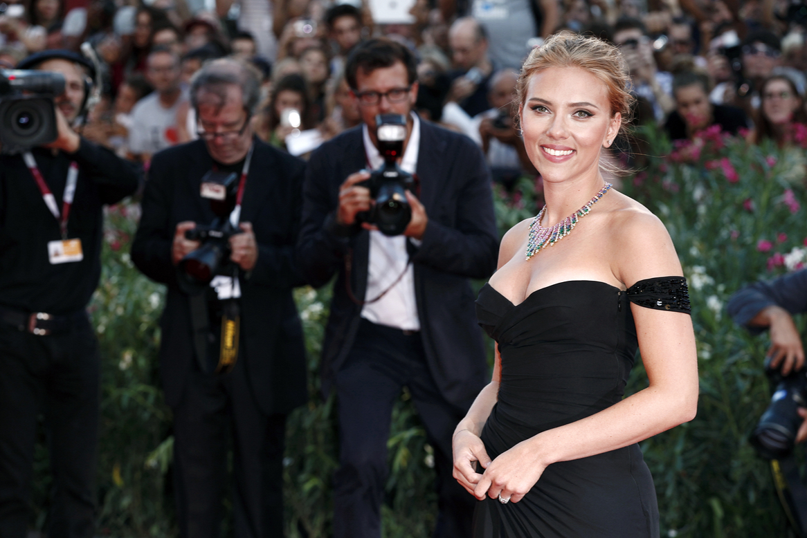 Scarlett Johansson attends 'Under The Skin' Premiere during the 70th Venice Film Festival on September 3, 2013 in Venice, Italy. Two months before beginning filming Captain America: The Winter Soldier By Andrea Raffin / Shutterstock.com