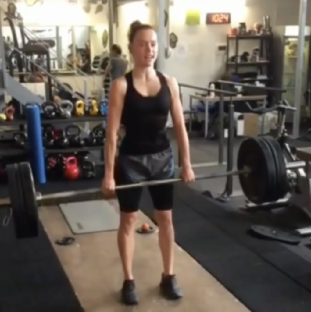 Daisy Ridley Deadlifting 176 Pounds