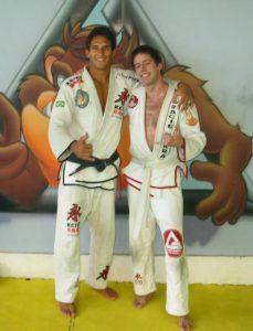 Gracie Barra, Rio De Janeiro, with my teacher Jefferson Maura