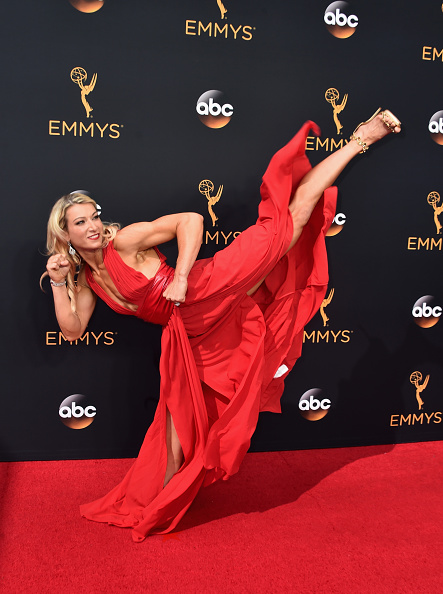 Jessie Graff attends the 68th Annual Primetime Emmy Awards on September 18, 2016. Photo by Alberto E. Rodriguez/Getty Images