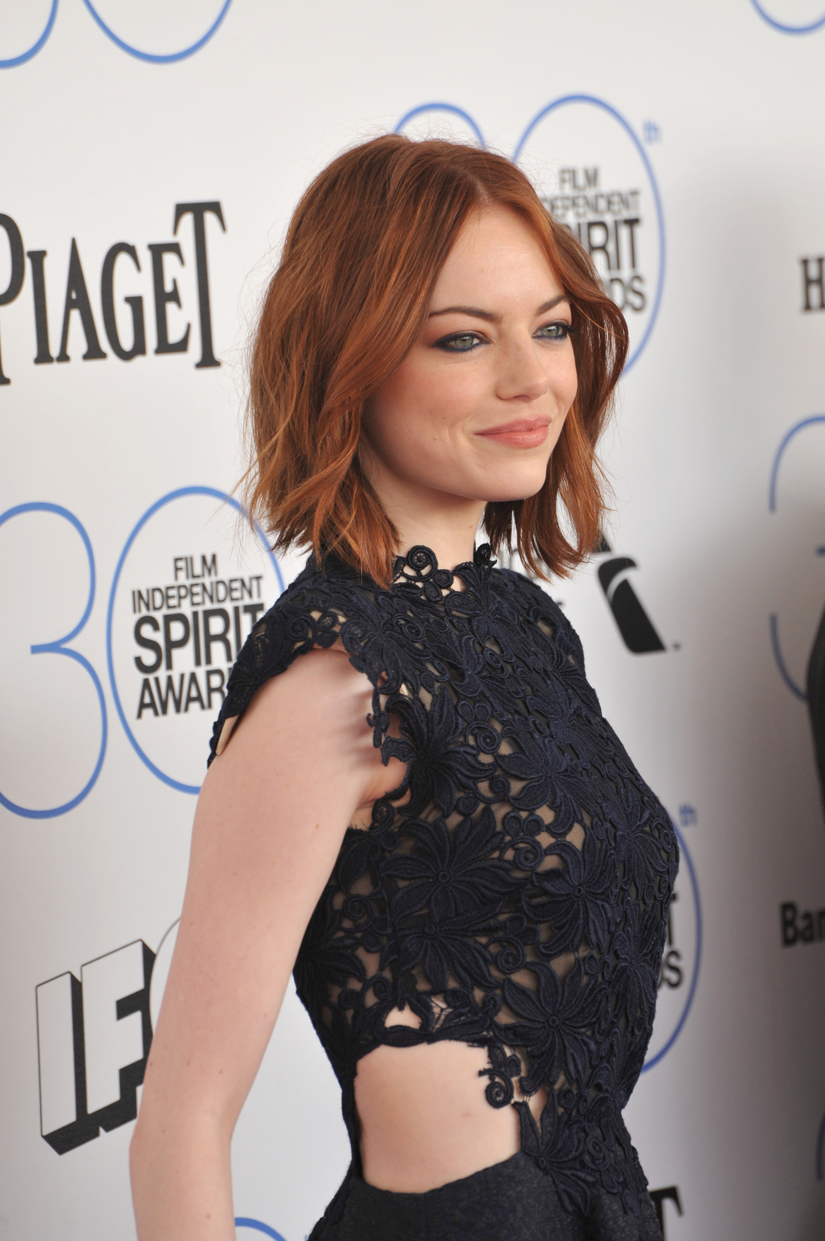 Emma Stone in 2015 (before filming La La Land) at the Independent Spirit Awards Photo: Featureflash Photo Agency / Shutterstock
