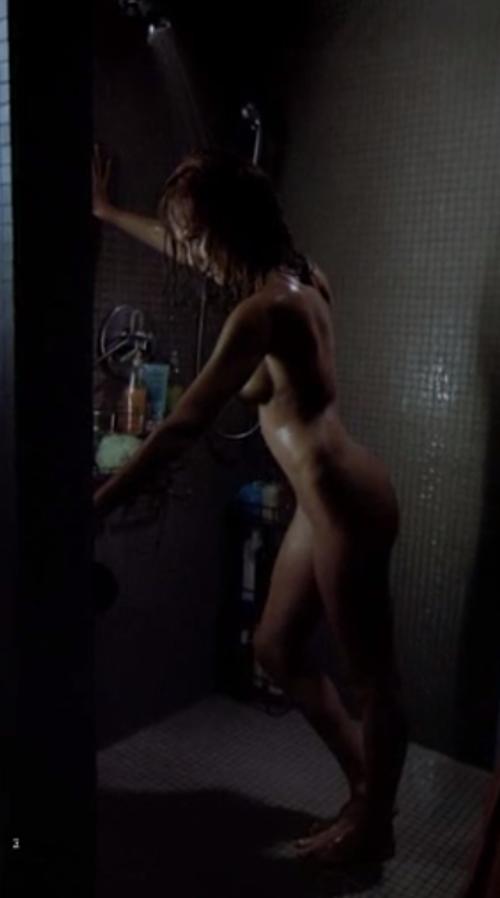 Alba naked in shower