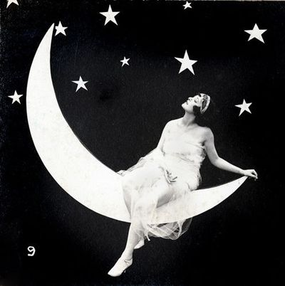 Moon-girl-stars-night
